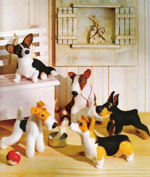 Мягкие игрушки из войлока