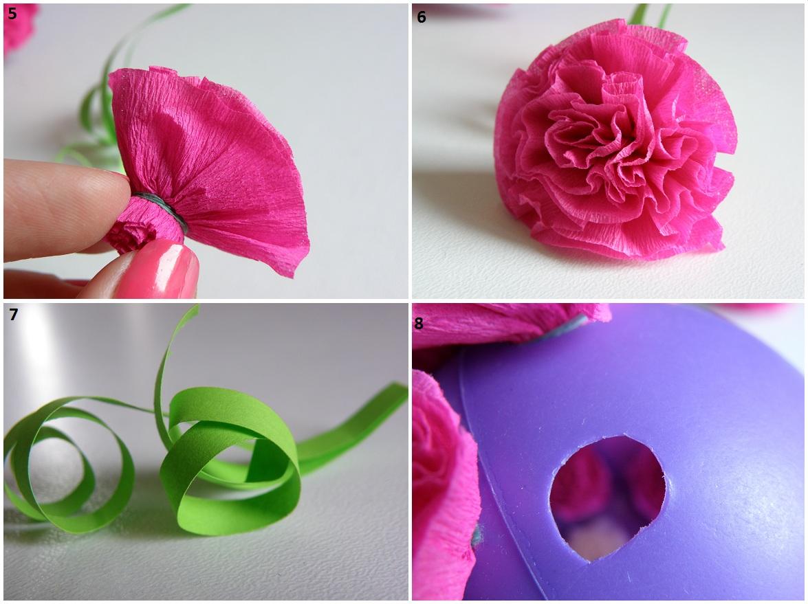 Шар из цветов своими руками из бумаги