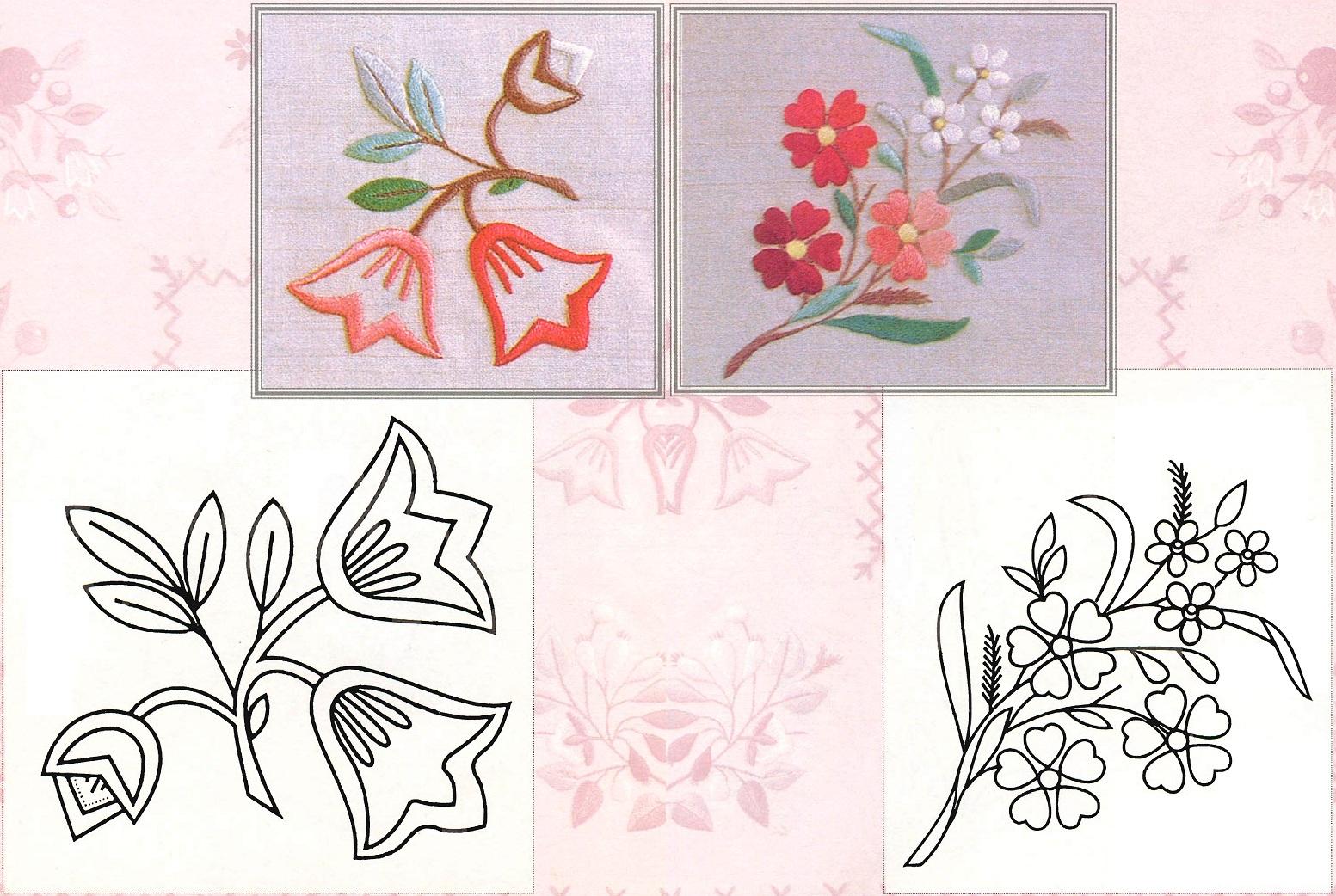 Эскизы схемы для вышивки