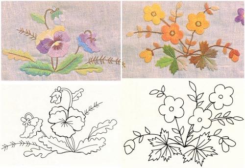 Схемы для вышивки цветов