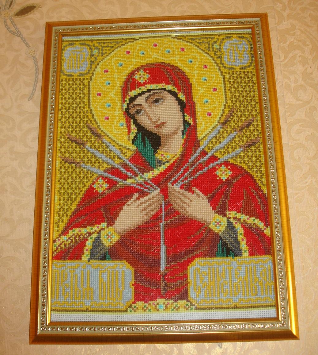 схемы вышивки крестом иконы смотреть