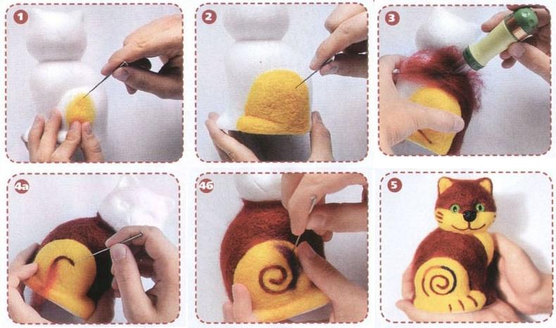 Как сделать руки из шерсти