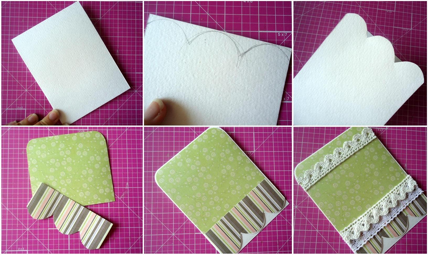 Как из белой бумаги сделать открытку 15