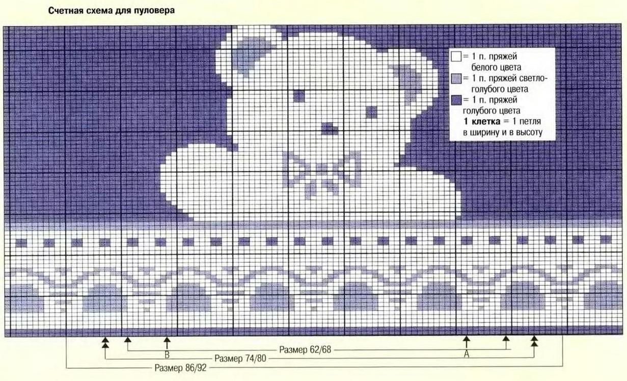 Медведь спицами схема