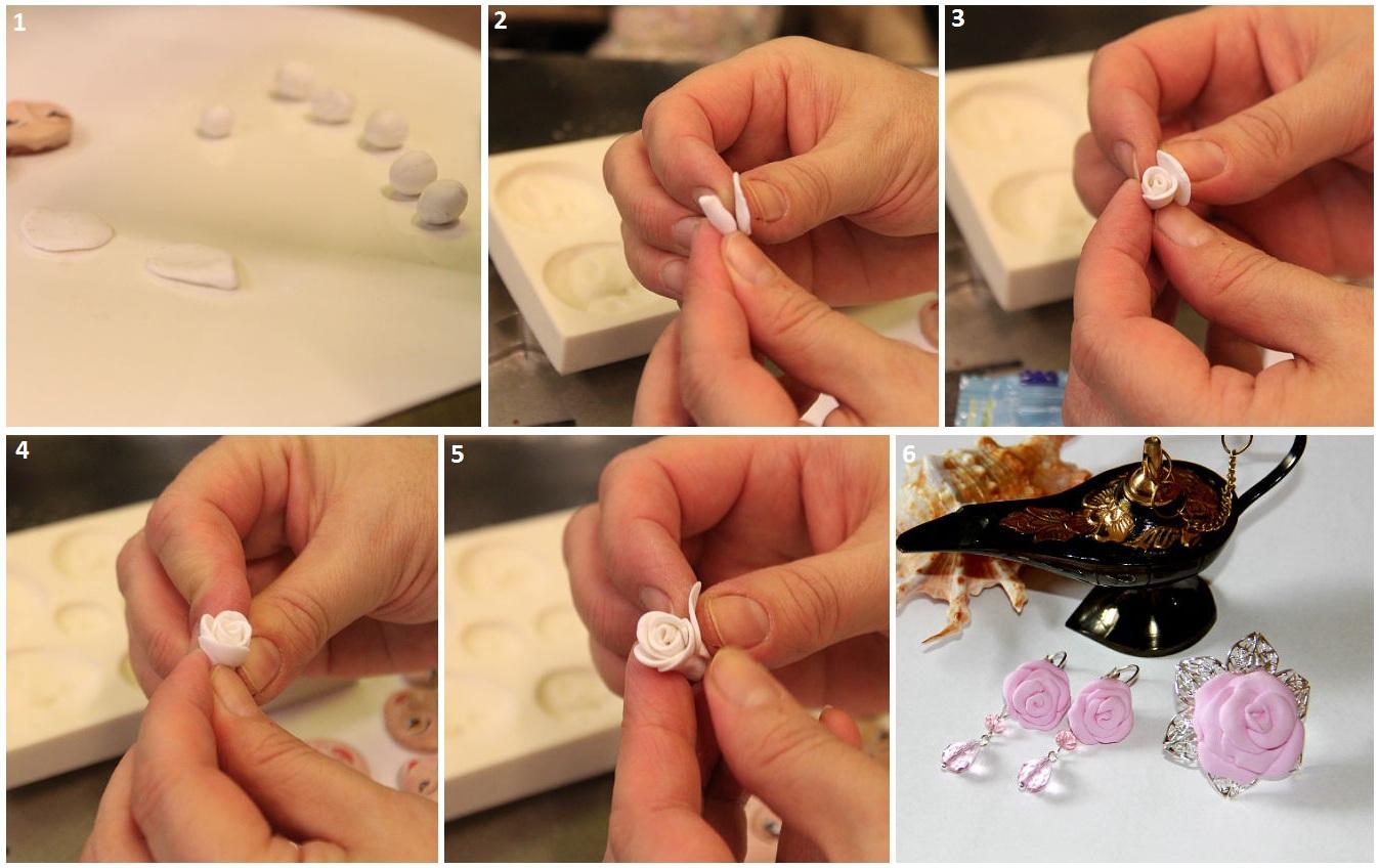 Как сделать из глины розочку фото 675