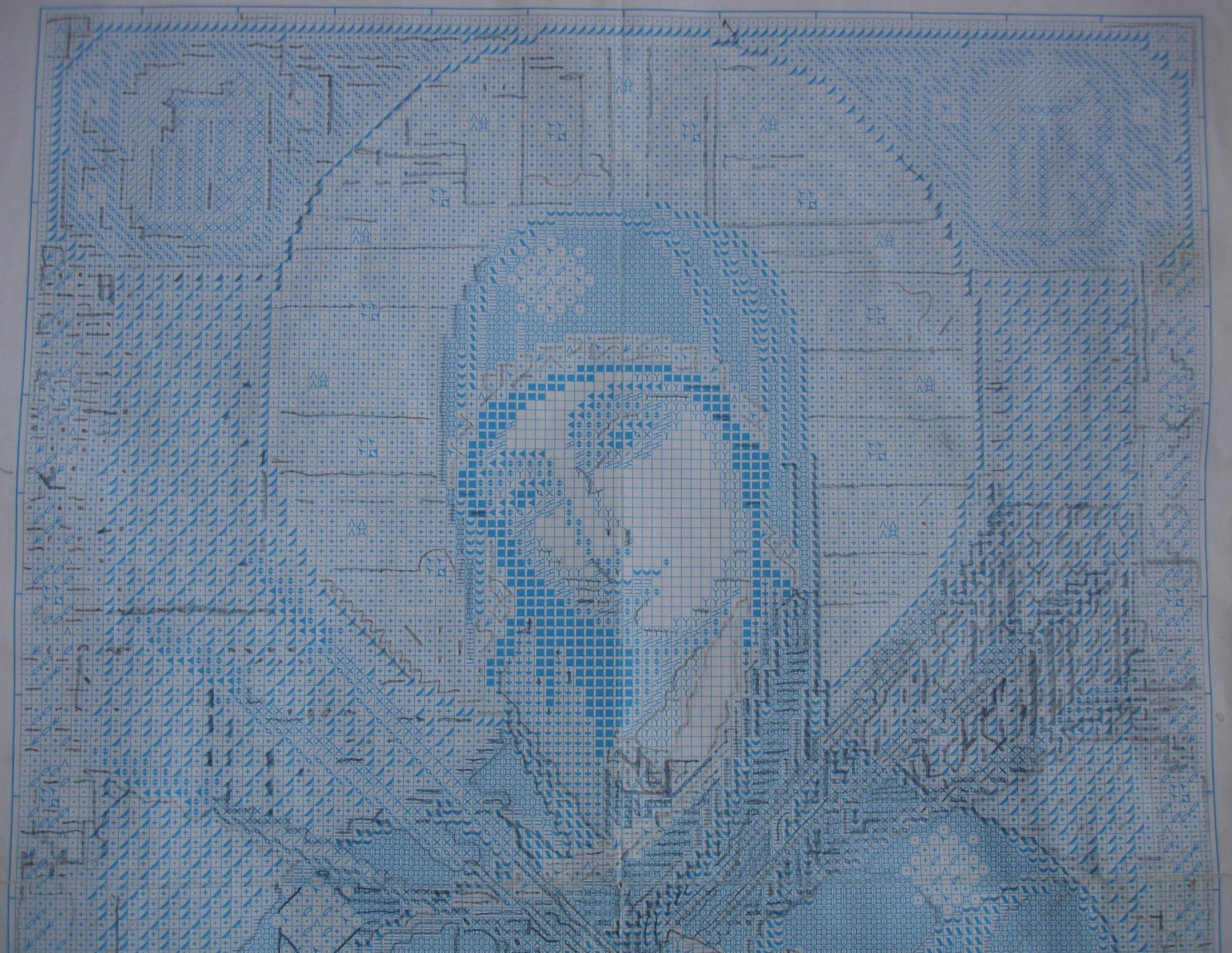 схема вышивания икон