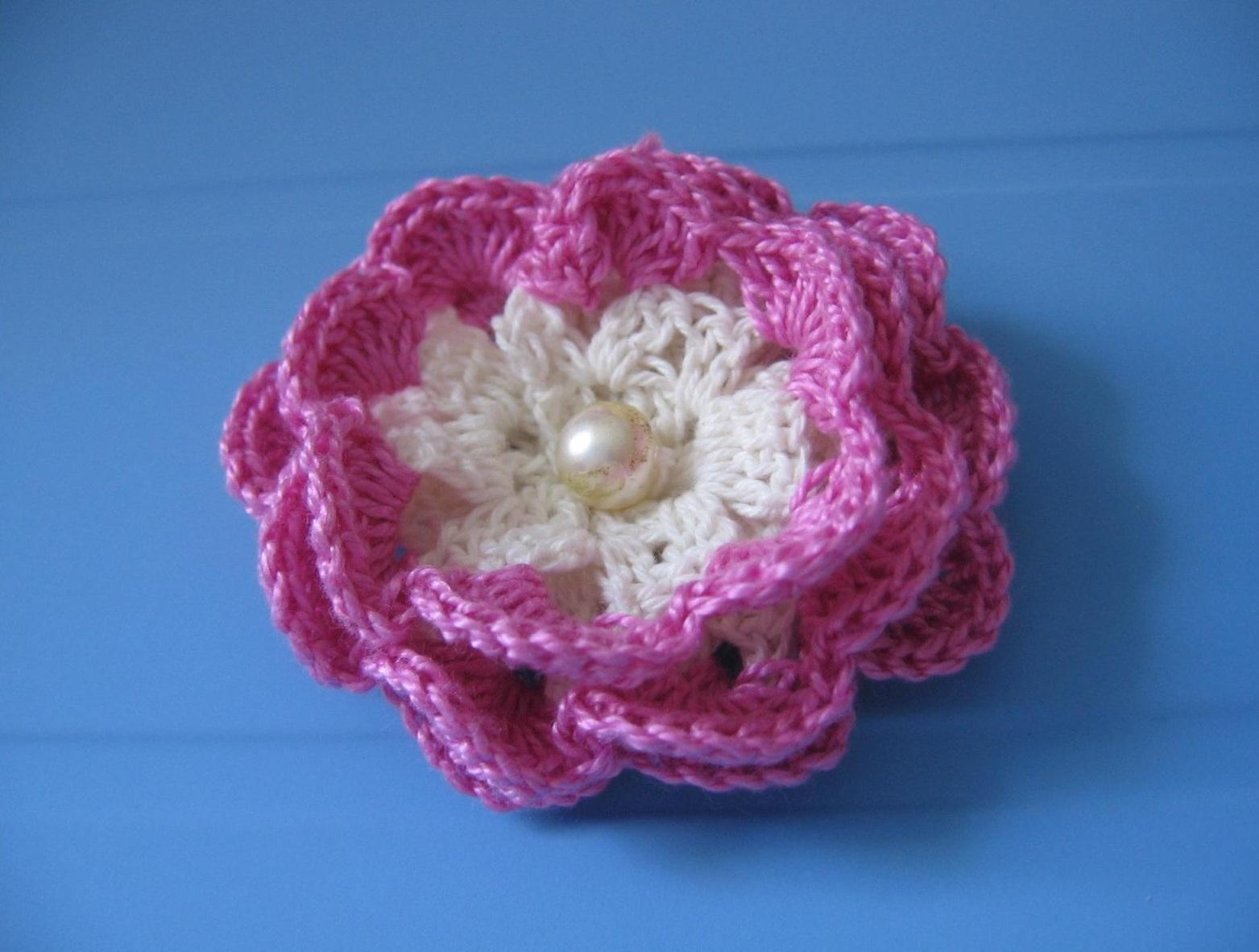 Вязание цветов крючком для начинающих вязание розы