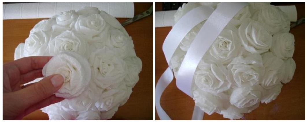 Как сделать розы на свадьбу своими руками