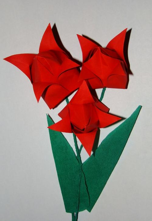 Тюльпан из бумаги объемный тюльпан своими руками