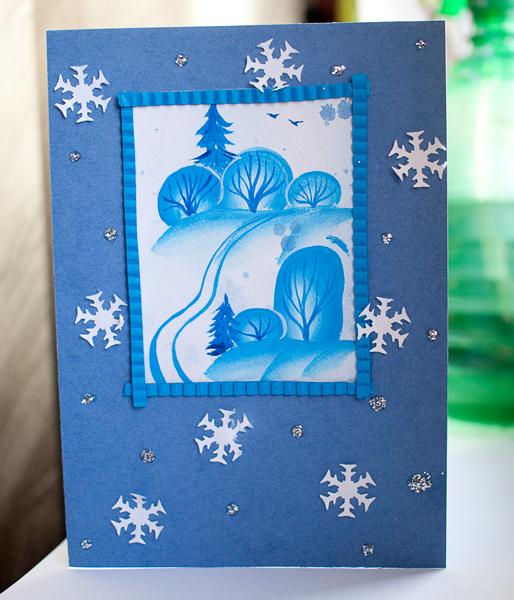 Рождественская открытка картинки своими руками