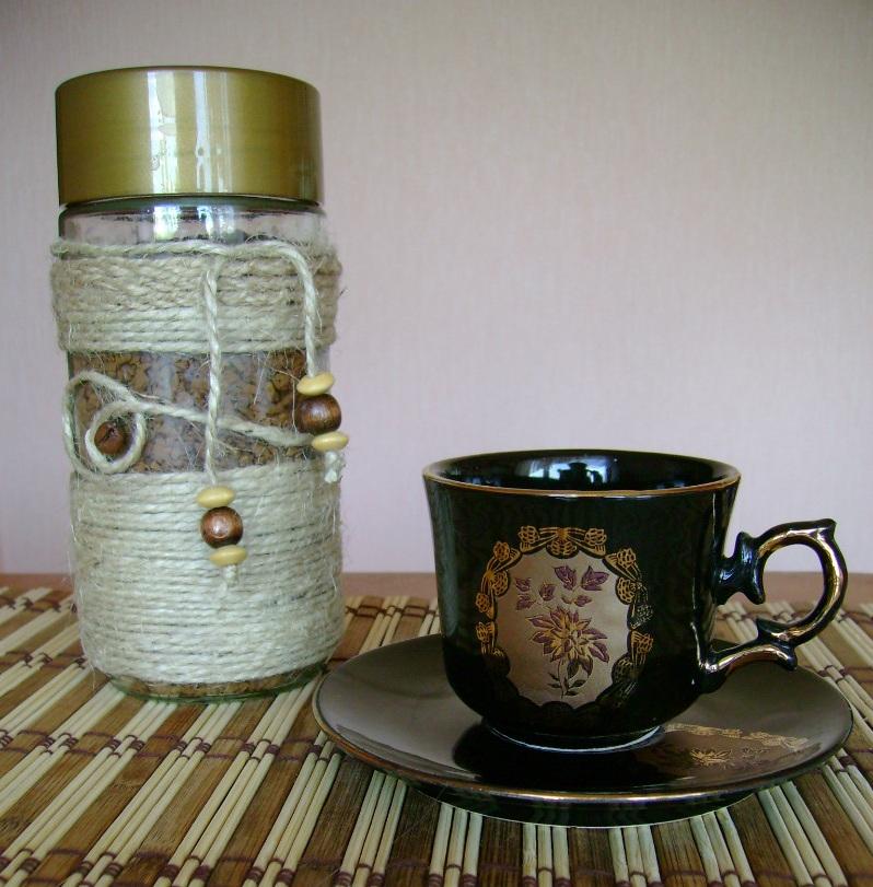 Сделать баночку для кофе