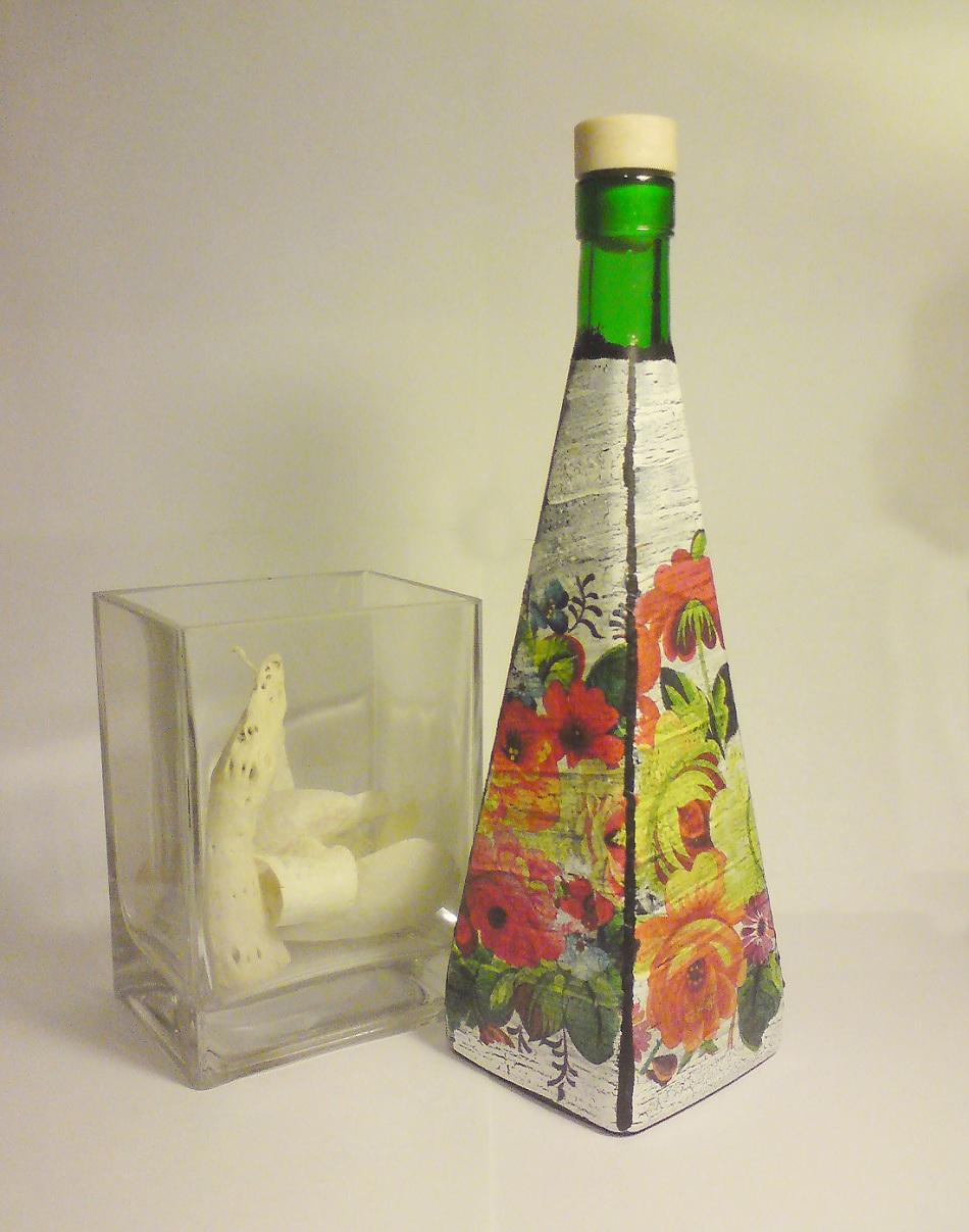 113 идей для поделок из стеклянных бутылок своими руками на фото 67
