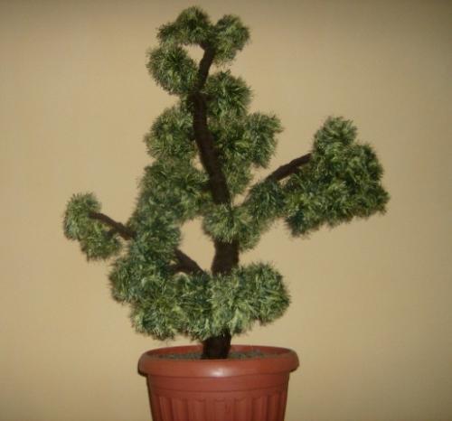 Деревья из ниток своими руками 20