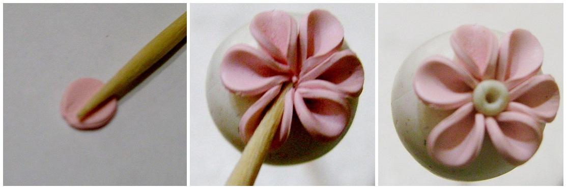 Как сделать цветок из полимерной глины своими руками