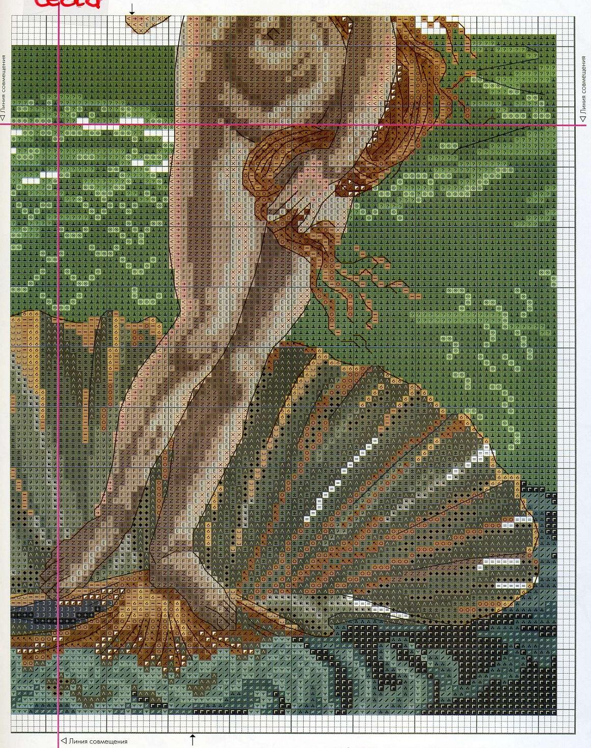 Вышивка крестом рождение венеры