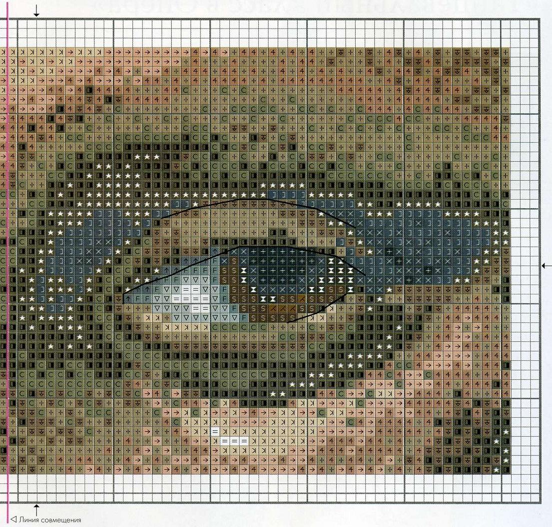 Вышивка схема мона лиза