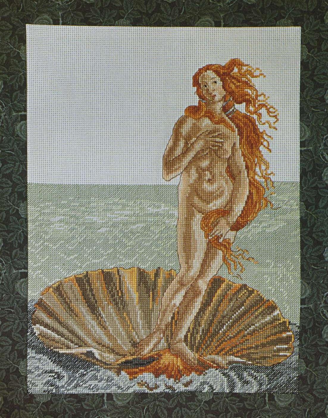 Схема вышивки на рождение венеры