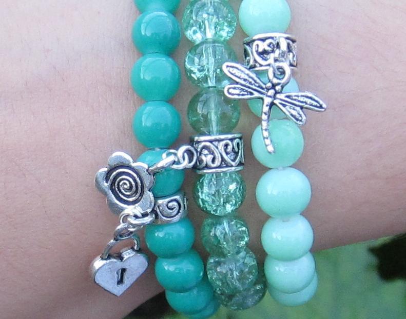 Модные браслеты из бусин
