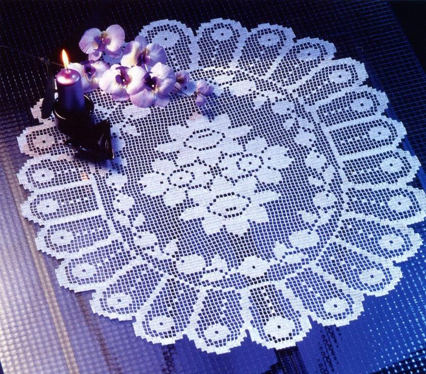 Филейное вязание для домашнего уюта 64