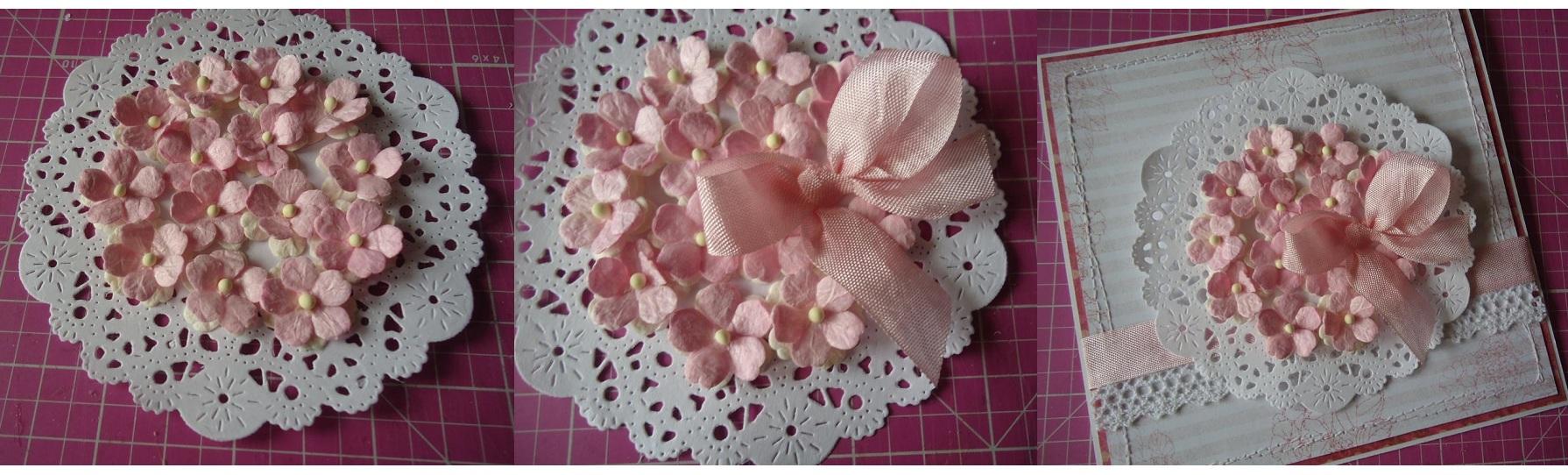 Цветы из салфеток для открытки своими руками