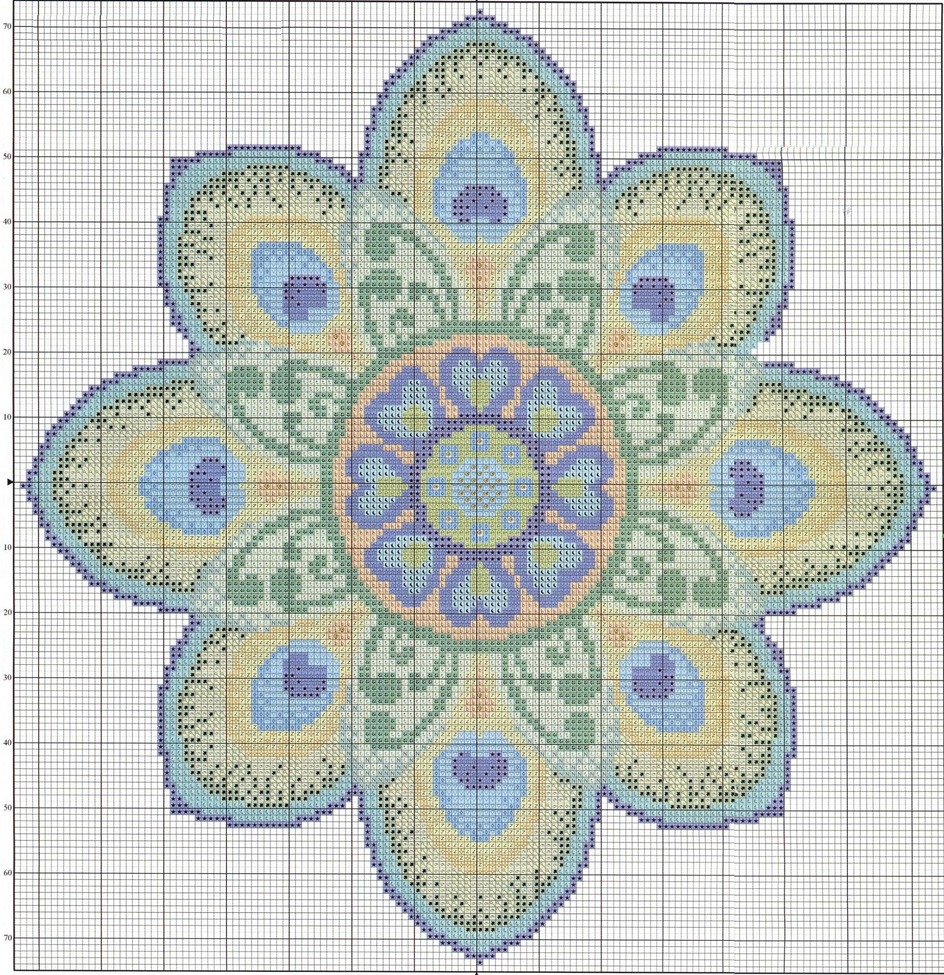 Схема узора для вышивания бисером