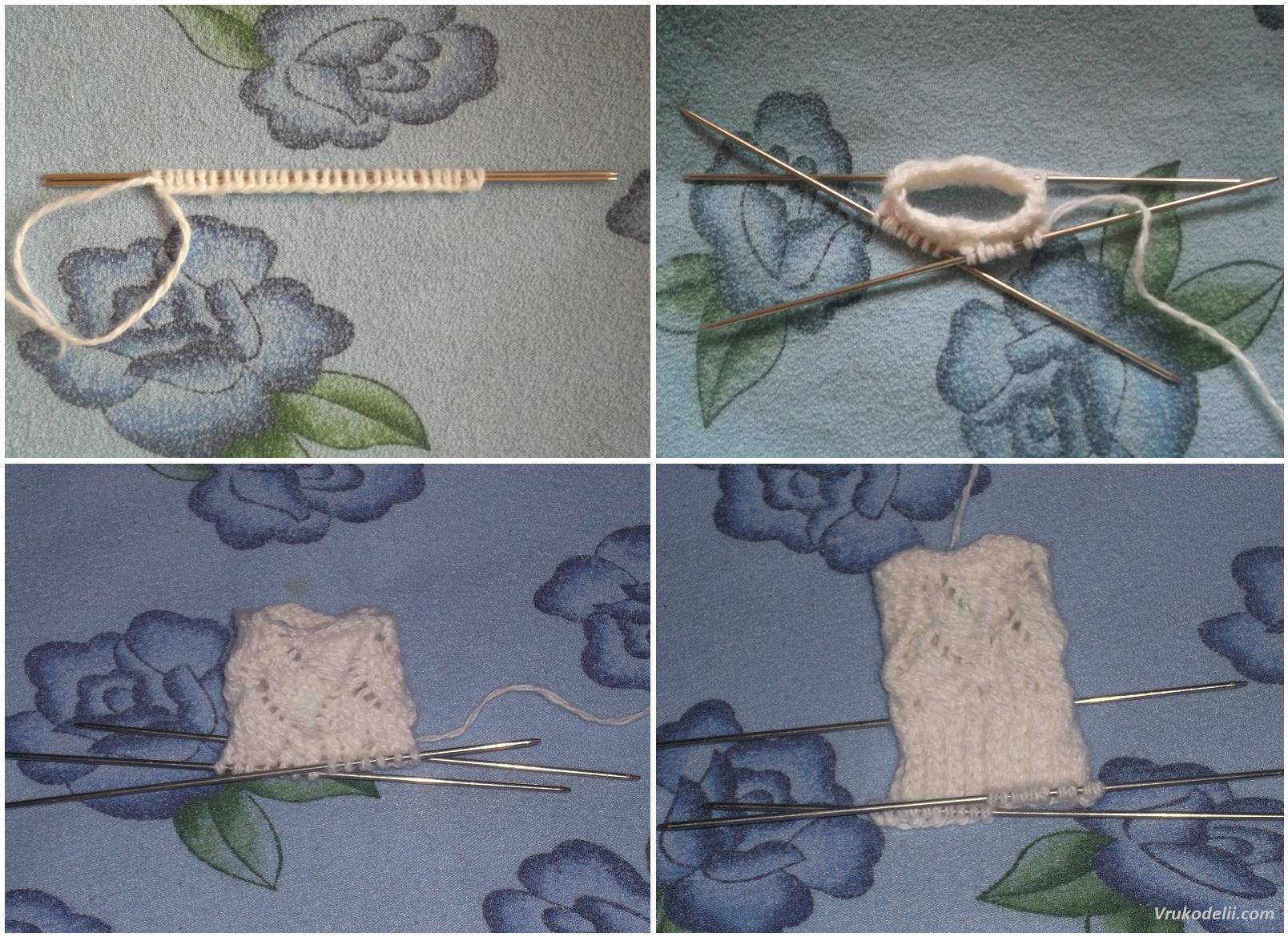 схемы вязания носк узорами