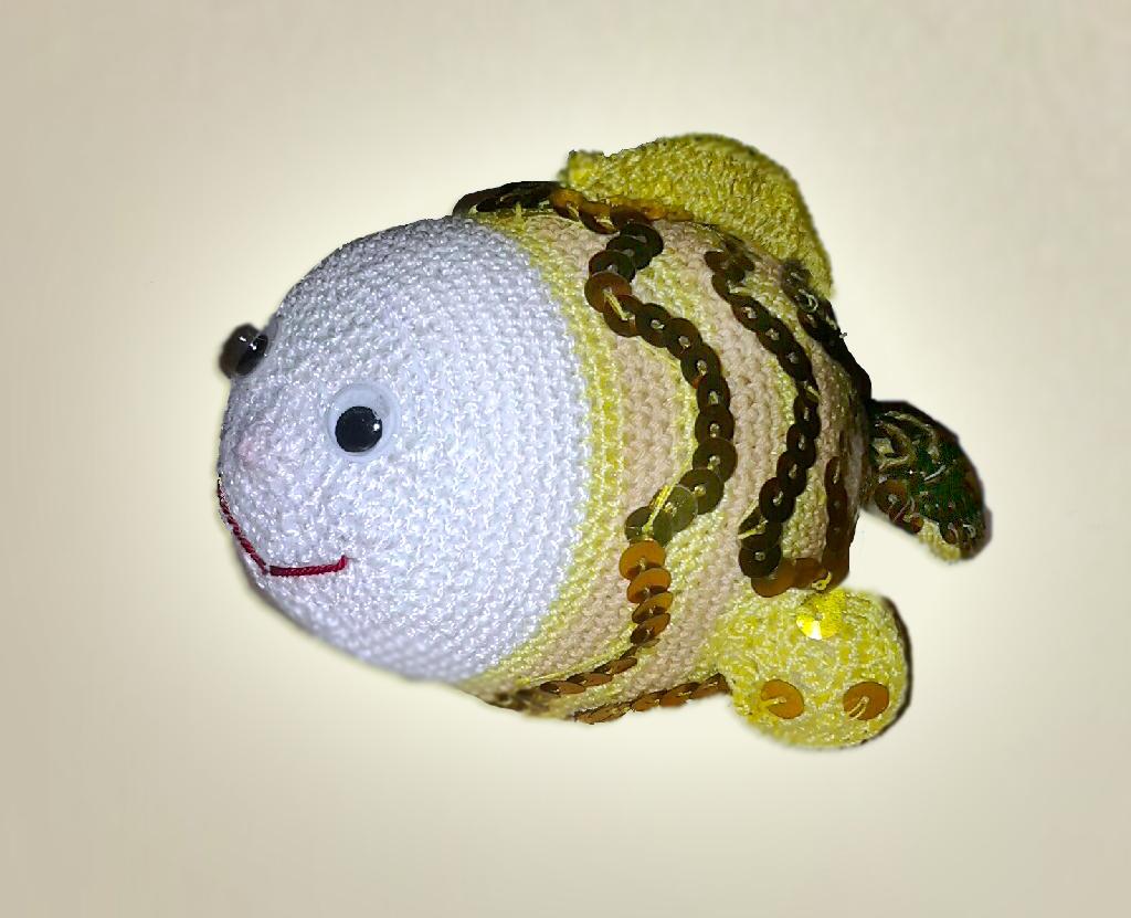 Вязаная золотая рыбка схема фото 444