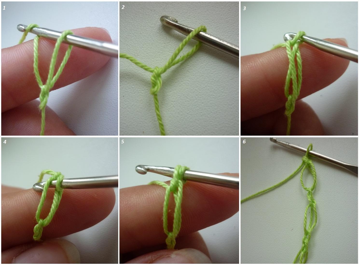 Как сделать узелок когда вяжешь крючком