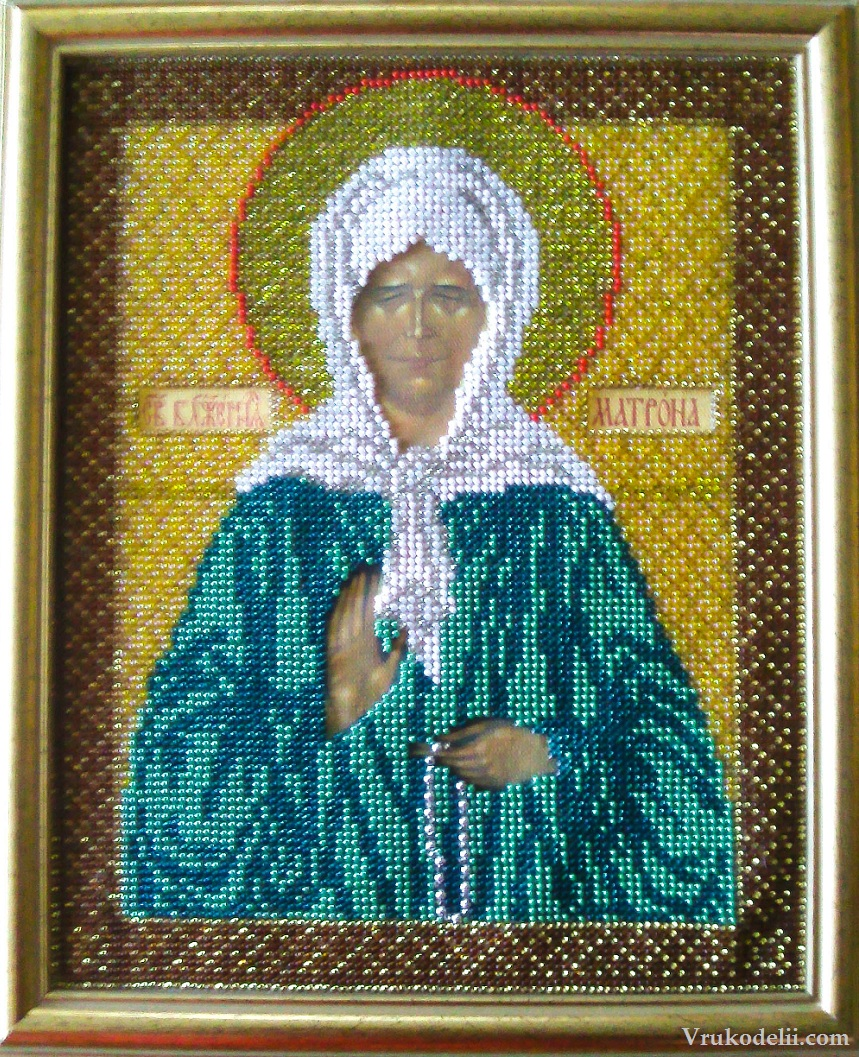 Схема иконы вышивка крестом матрона московская