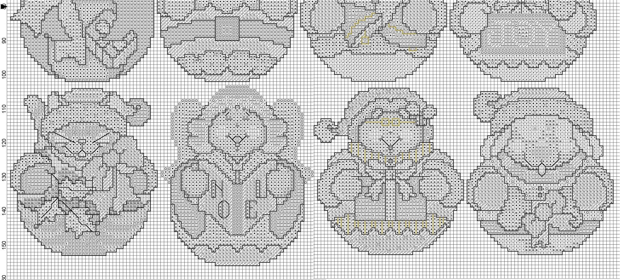 схема вышивки крестом ветка сосны