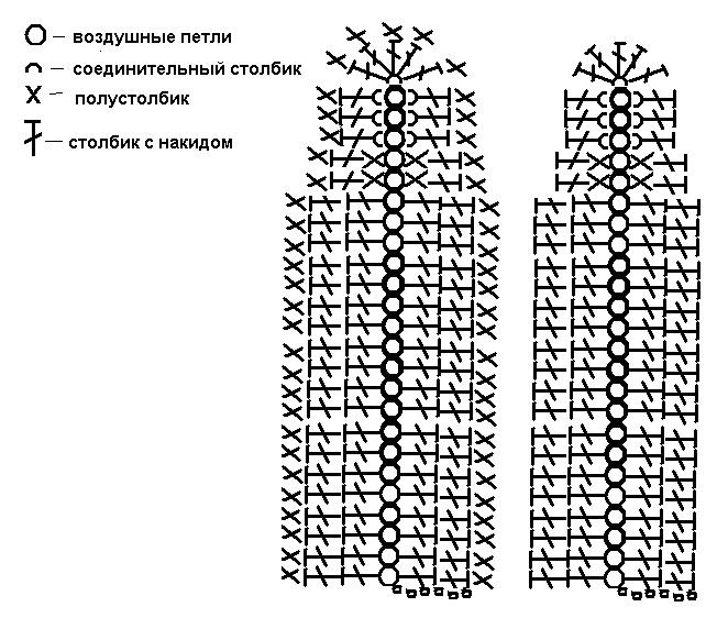 зайца схемы вязания ушей крючком для