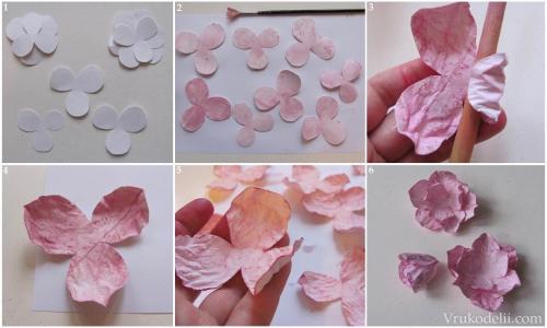 Как сделать из цветной бумаги лепестки роз