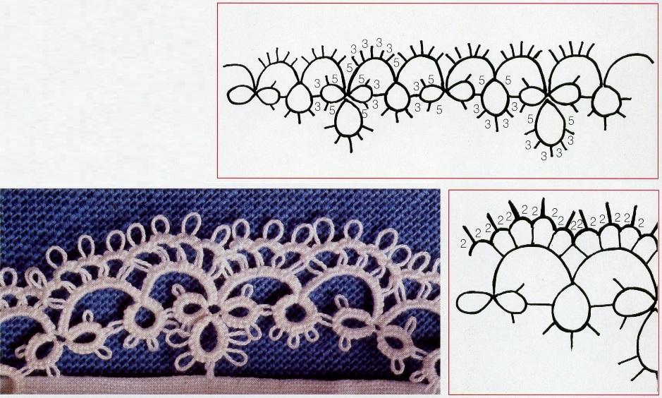 Схемы вязания фриволите 70