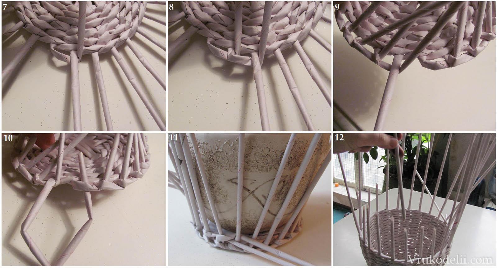 Схема плетения из трубочек