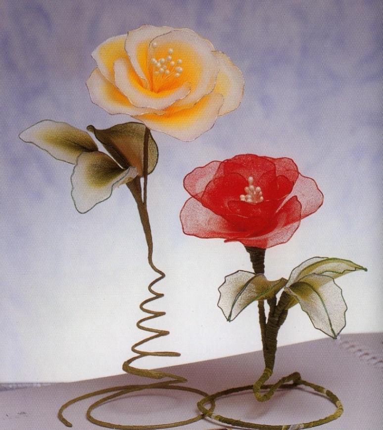 Роза своими руками из капрона