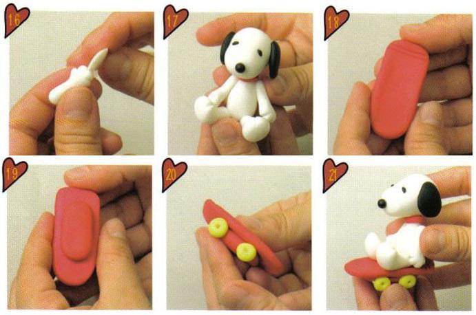 Как сделать собачку из глины