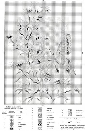 Схема вышивки горизонтальная