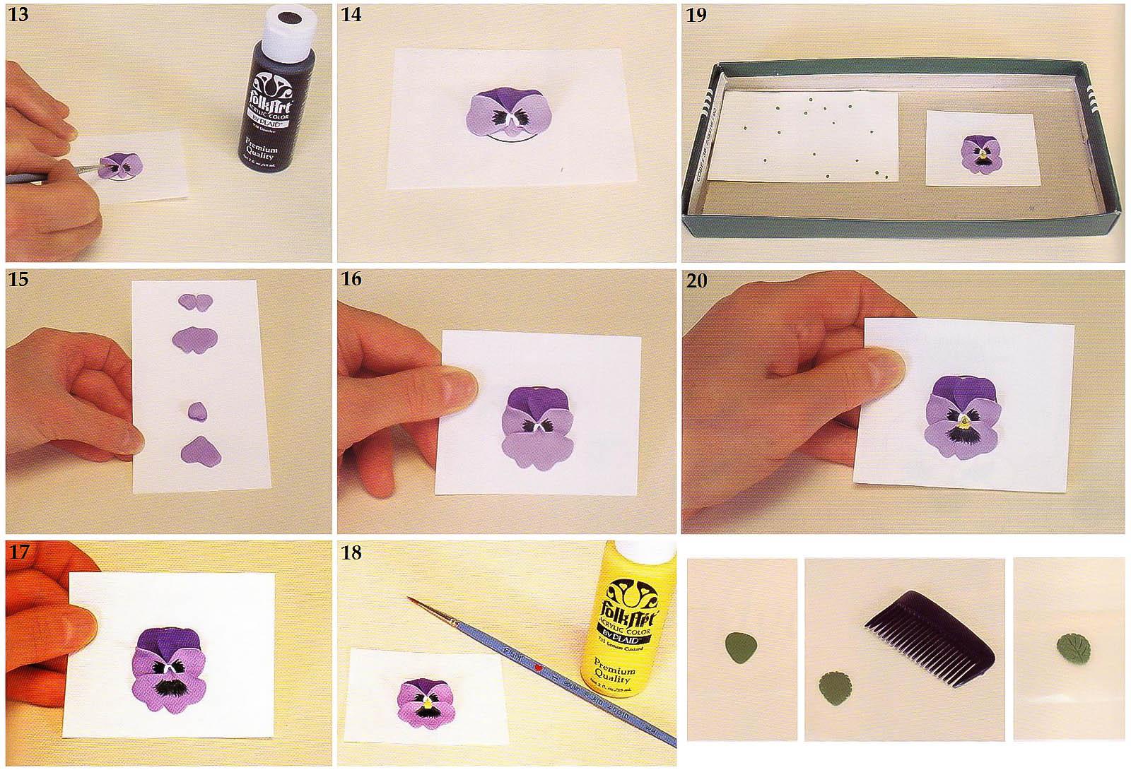Как сделать анютины глазки из мастики мастер класс
