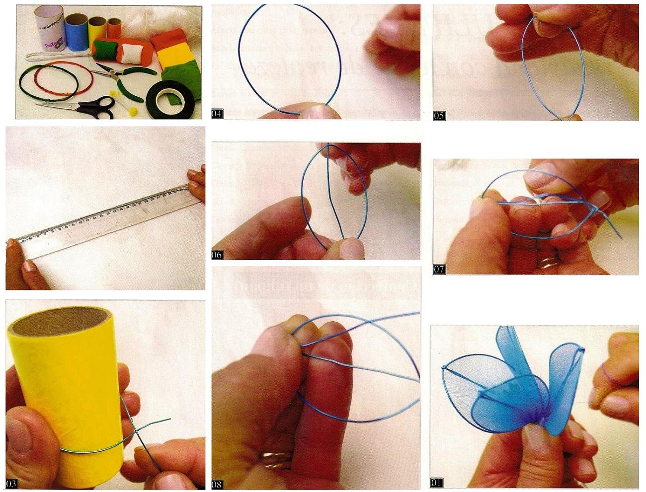 Как сделать цветок из капрона своими руками фото 78