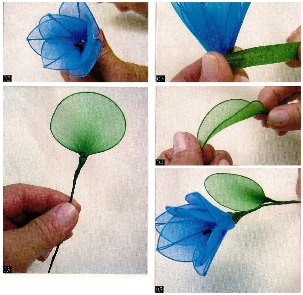 Мк из капрона своими руками цветок