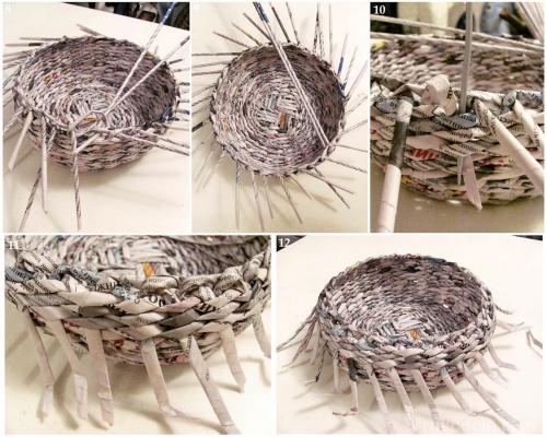 Как сделать газетные трубочки для плетения фото 266