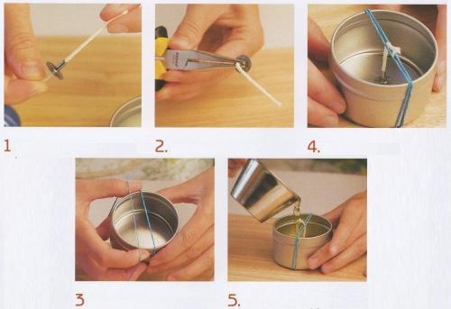 Как сделать фитиль в домашних условиях