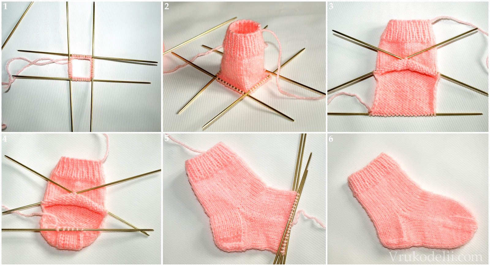 Детские носки связать