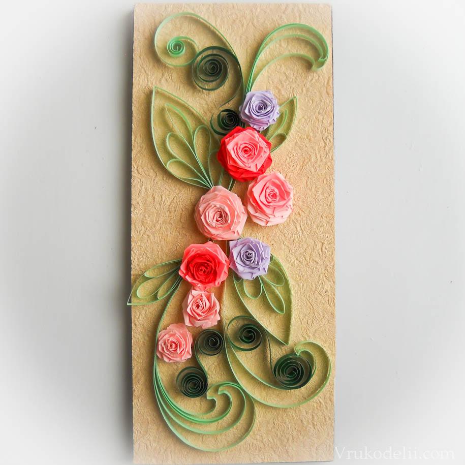 Открытки своими руками из бумажных роз, последним днем