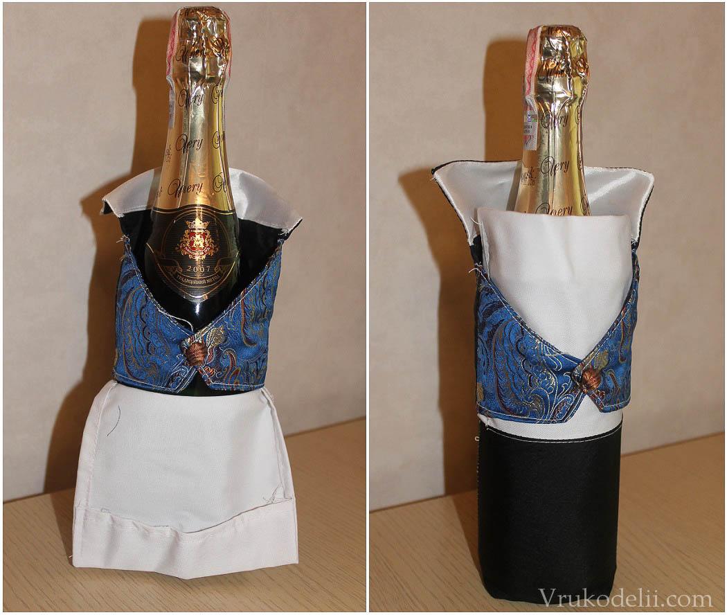 Как сделать шляпу на свадебное шампанское
