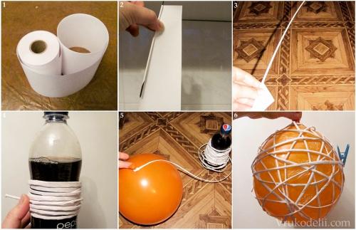 Как сделать шар из бумаги полый