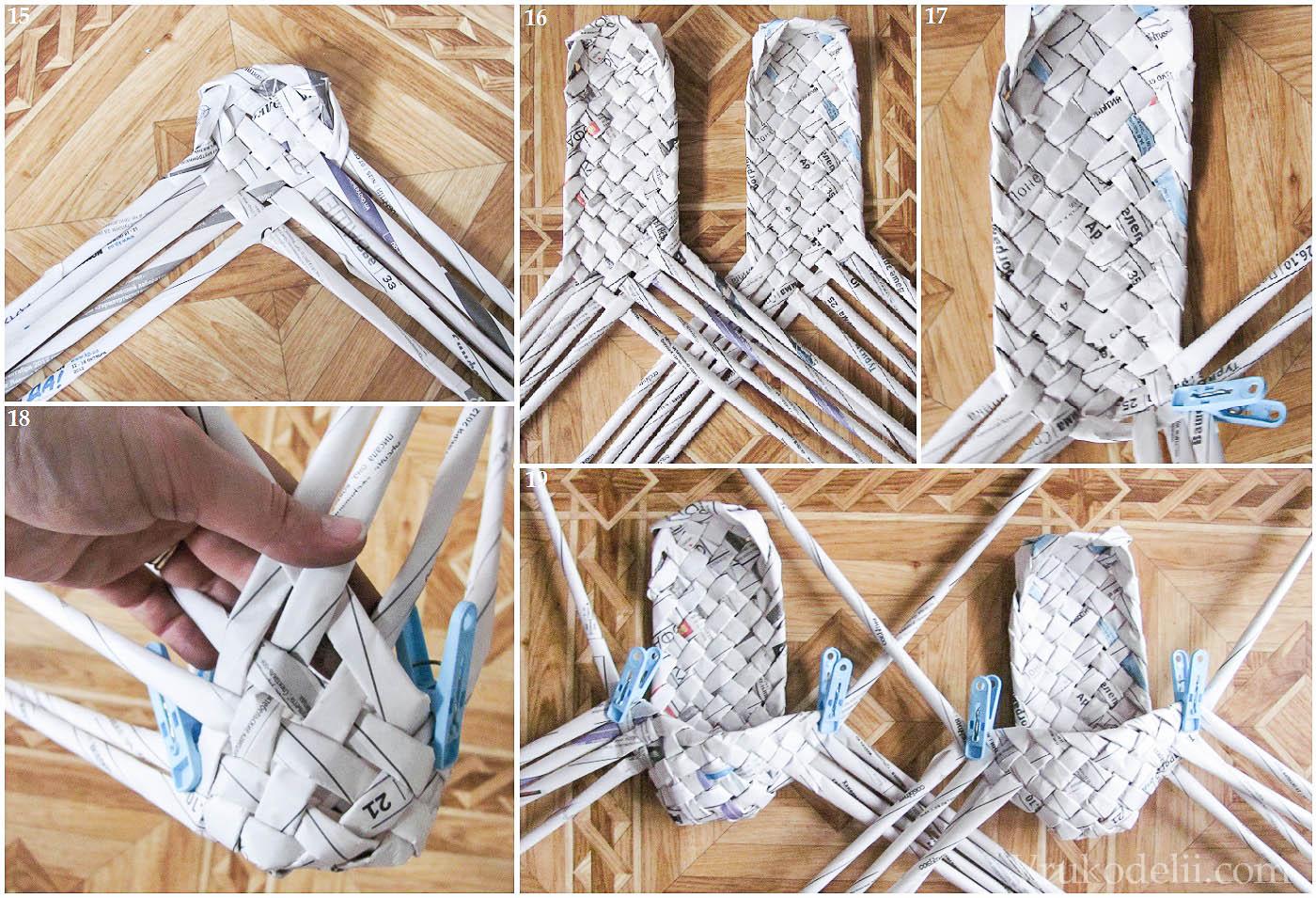 Поделки своими руками плетение из газетных трубочек