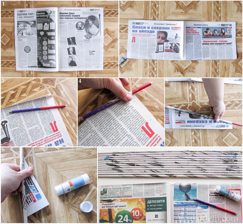 Поделки из газетных трубочек - 105 фото советов как плести 77