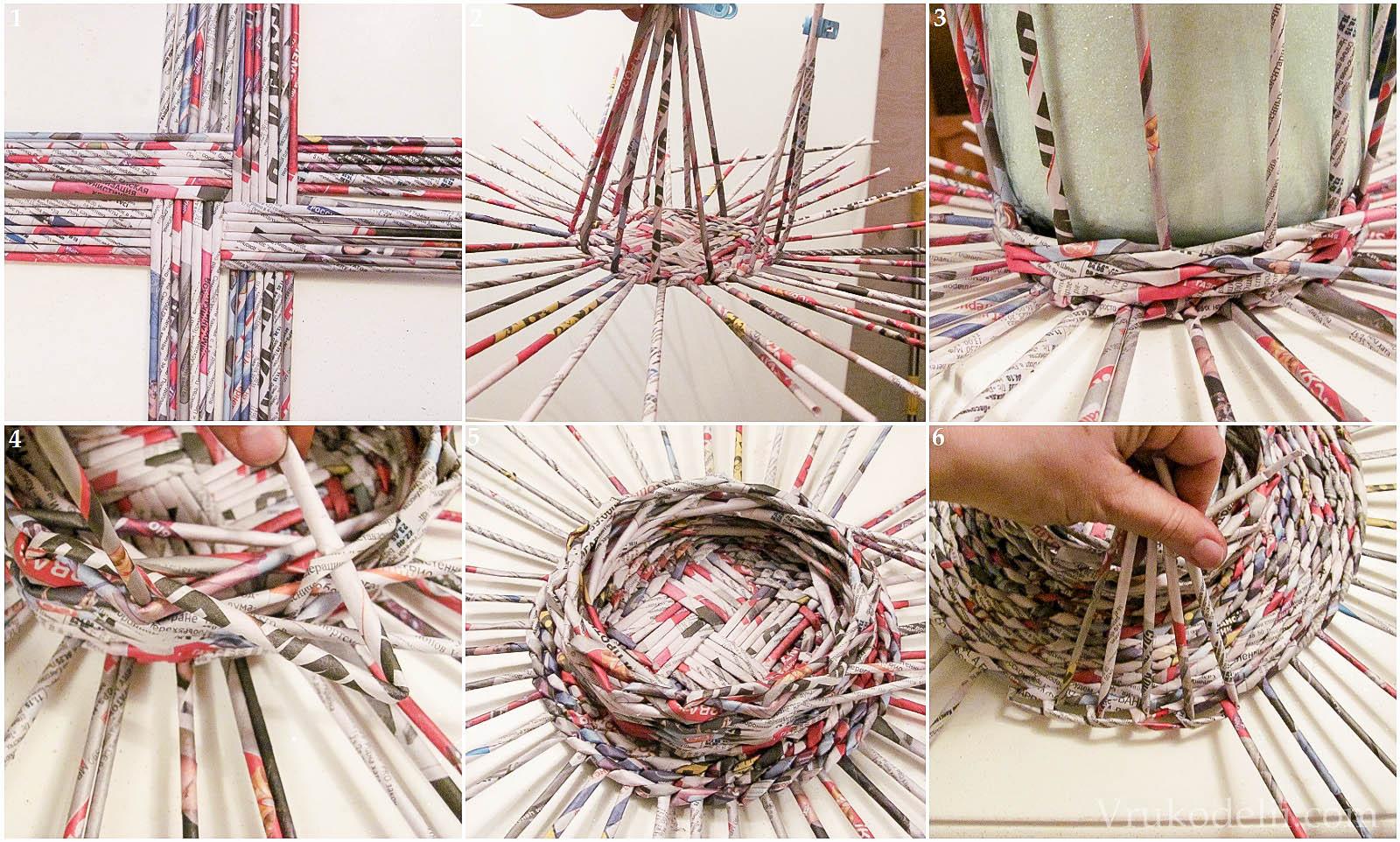 Плетение из бумаги своими руками