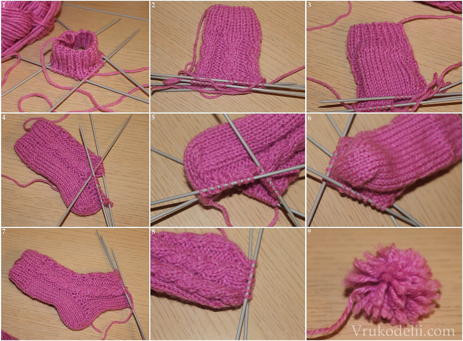 Мастер класс по вязанию носков » Петля - вязание 43